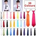 Детский галстук для детской свадьбы однотонный эластичный галстук