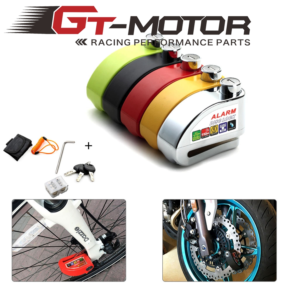 110dB Motorcycle Alarm Lock Motorbike Anti-theft Alarm Wheel Disc Brake Security Safety Siren Lock