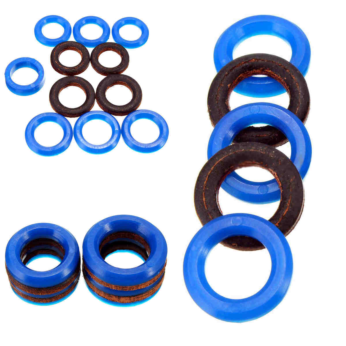 OSSIEAO 11Pcs Airless Spray Seal Ring Repair Set 244194 For Spraying Machine Blue&Black