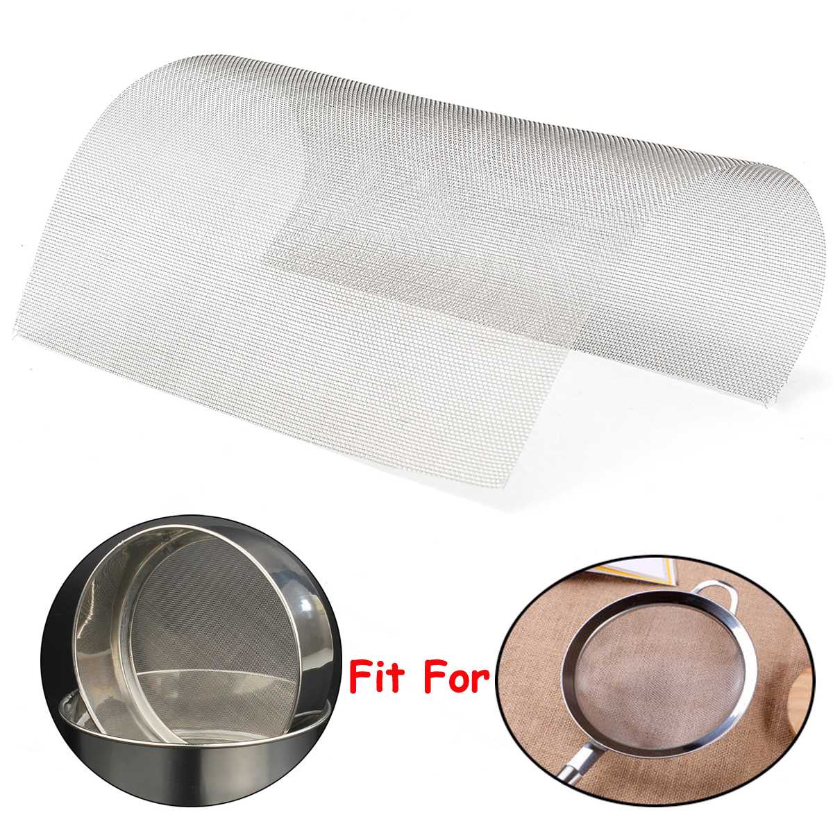 30x30cm Woven Wire 304 Stainless Steel Filtration Grill Sheet Filter 20 Mesh Wire Mesh Cloth Screen