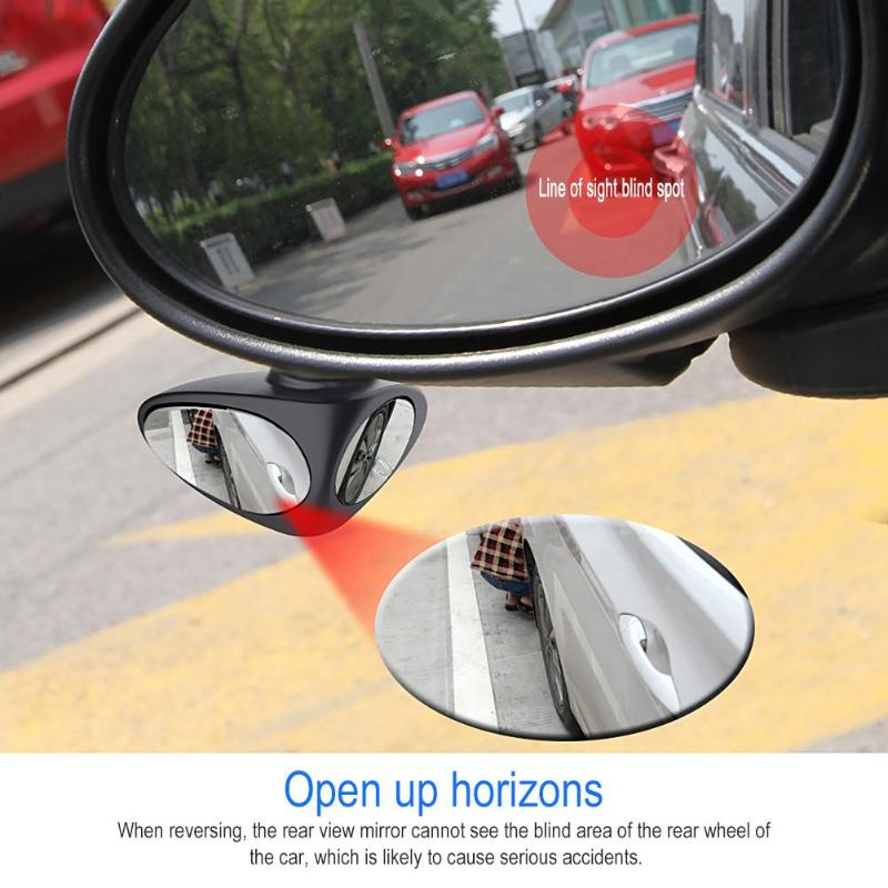 Image 5 - 2 in 1 360 Degree Rotation Double Sided Blind Spot Mirror Reversing Parking Auxiliary Car Rear View Mirror-in Mirror & Covers from Automobiles & Motorcycles