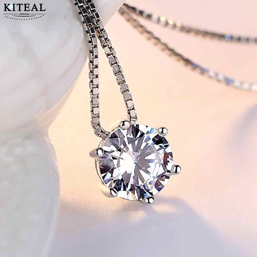 925 jewelry Silver Necklace Six Claw AAA CZ Mosaic Zircon Choker Necklace For Women collier Valentine's Day Gift S-N46