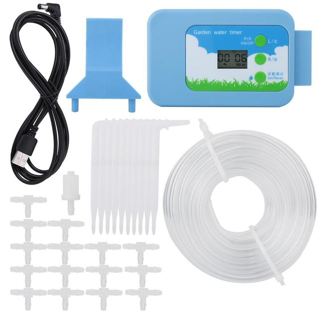 New Home Garden LCD Irrigation Controller Kit Water Timer Automatic Garden Watering System