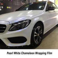 Pearlescent Satin Matte white Pearl blue Matt Chameleon Vinyl Car Wrap Film Bubble Free Vehicle Styling Hot selling