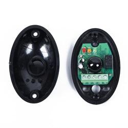 Czarny fotokomórka czujnik podczerwieni wiązka 12/24 V do otwierania bramy przesuwne bezpieczeństwa na podczerwień zdjęcie komórki akcesoria wysokiej jakości w Części i akcesoria od Dom i ogród na