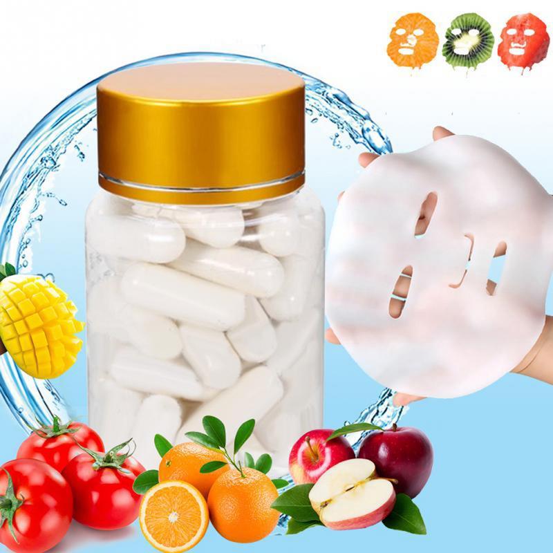 Collagen Active Peptide Crystal Mask Powder Hydrating Transparent Jelly Mask Anti Aging Rejuvenation Shrink Pore Capsule Mask 5