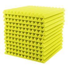 12PCS 30x30cm Acoustic Foam Sealing Strips Soundproofing Foam Wedges Crate Studio Acoustic Soundproofing Tools