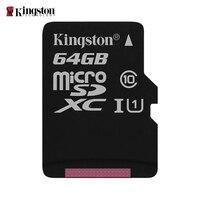 Kingston микро Флэшка карта памяти 64 Гб класс 10 sd-карта memoria C10 мини SD карта SDHC/SDXC TF карта