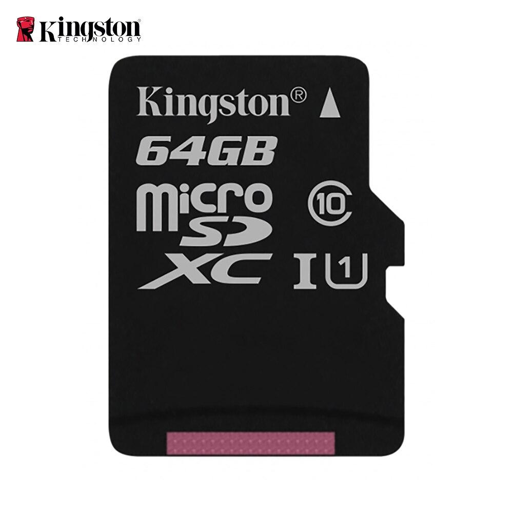 Kingston Micro SD tarjeta de memoria 64GB Class10 carte sd memoria C10 Mini SD tarjeta SDHC/SDXC tarjeta TF