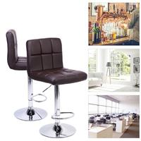 2pcs Modern Bar Backrest Chairs Office Cafe Furniture Kit Rotation Stool for Household Entrance Kitchen Bar Chair Accessories
