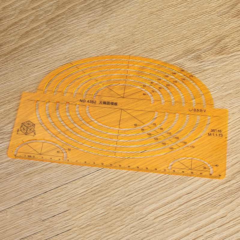 Kicute 1pc Plastic Professional Drawing Template Ruler Tools Foot Multipurpose Oval Template Ruler Drawing School Supplies