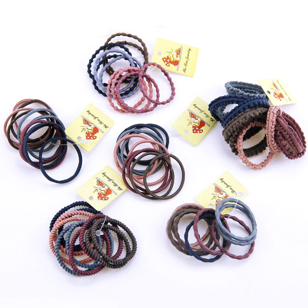 10Pcs 3CM Girls Fashion Hair Ring Thin Mix Rubber Bands Basic   Headwear   Hair Rope Hairdressing Multi-Color New Hair Accessories