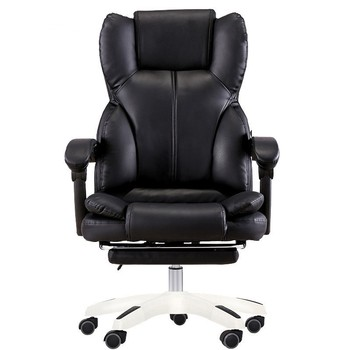 Computer Chair Home Chair Office Chair Can Lie With Footrest Ergonomic Seat Boss Chair executive office chair in velvet microfiber with nylon casters office furniture computer desk task ergonomic boss chair for home