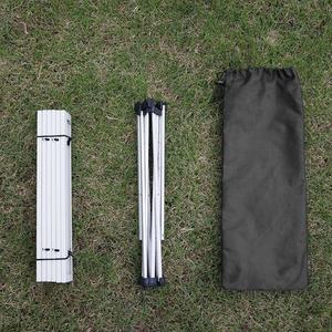 Image 2 - อลูมิเนียมพับได้โต๊ะOutdoor Campingชุดสวนกลางแจ้งตารางแบบพกพาโต๊ะ