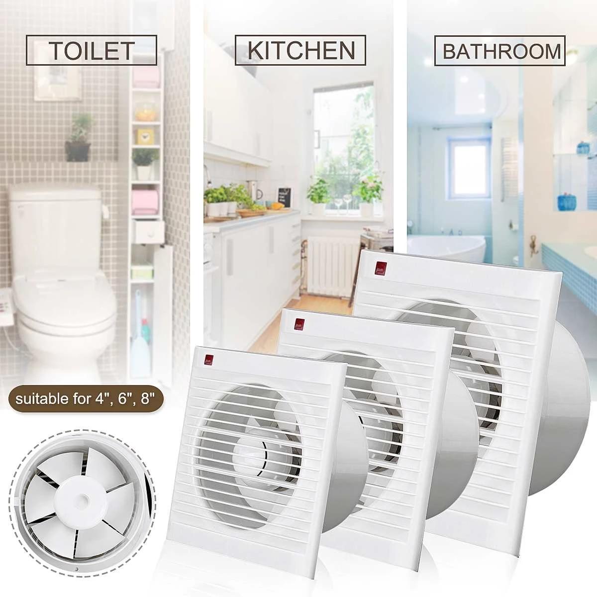 4inch 6 inch 8 inch waterproof mute bathroom extractor exhaust fan window for kitchen toilet ventilation fans