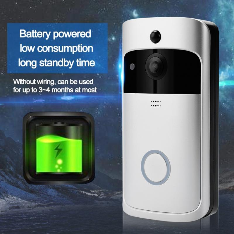 Image 4 - 720P Home Security Monitoring Door Bell Smart WiFi Video Intercom Doorbell Wireless IR Night Camera wireless belldoor-in Doorbells from Home Improvement