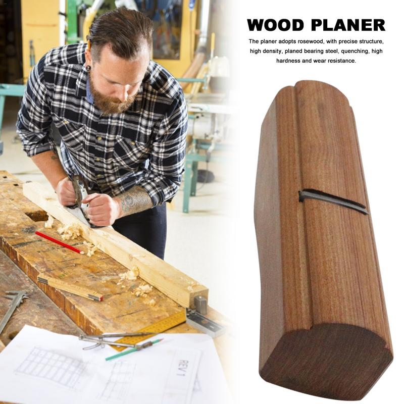 Hand Plane Wood Planer Rosewood PlaneFlat Wood Plane Bottom Edged Easy Cutting Edge For Carpenter Sharpening Woodworking Tools