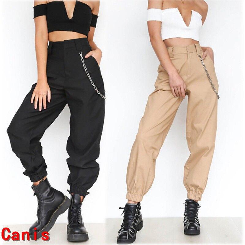 Ropa De Verano Para Mujer Pantalones Informales De Estilo Safari Ropa Holgada Pantalones Largos Deportivos A La Moda De Color Liso Para Mujer Pantalones Y Pantalones Capri Aliexpress