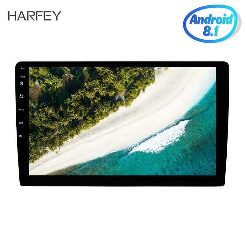Harfey Android 8.1 2 Din 10 pouces universel autoradio Navigation GPS Bluetooth Audio stéréo FM voiture Support multimédia SWC DVR 3G