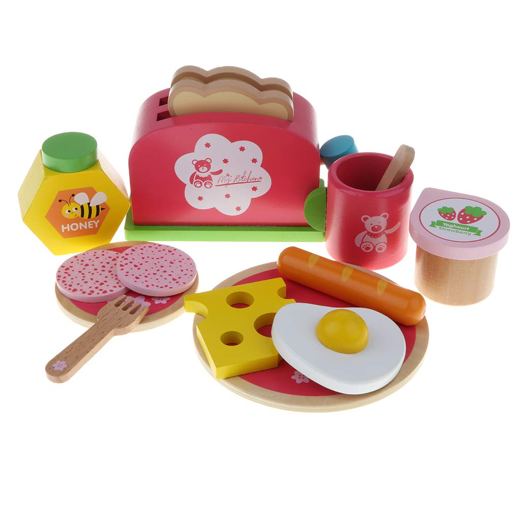 Wooden Simulation Cookware Bread Machine Pretend Play Role Playing Game Educational Toys Birthday Gift for Children Kids