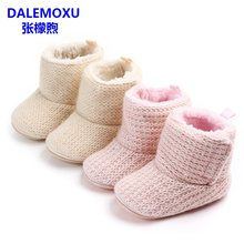 DALEMOXU Winter Baby Warm Boots Non-Slip Toddler Infant Casual Shoes Velvet Sports Bebes Zapatos Girls Boys Baby Booties(China)