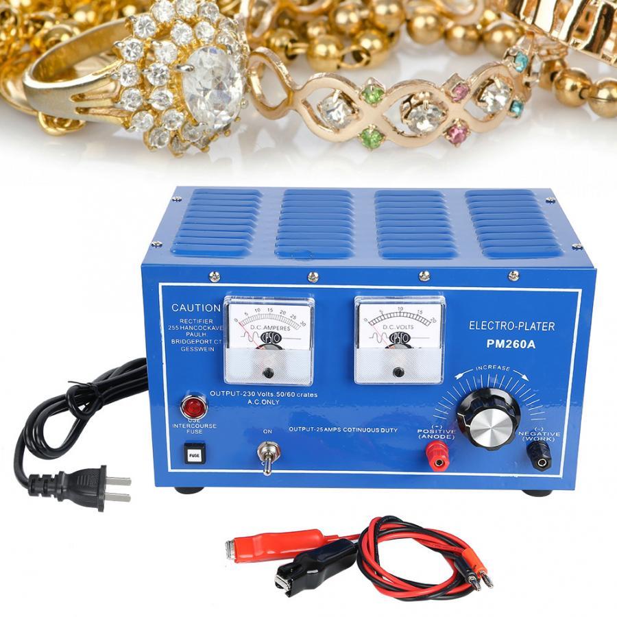 Profesjonalne 30A srebrny maszyna do powlekania złotem biżuteria miedź nikiel chrom poszycia urządzenie galwaniczne narzędzie do wyrobu biżuterii w Narzędzia i urządzenia jubilerskie od Biżuteria i akcesoria na  Grupa 1