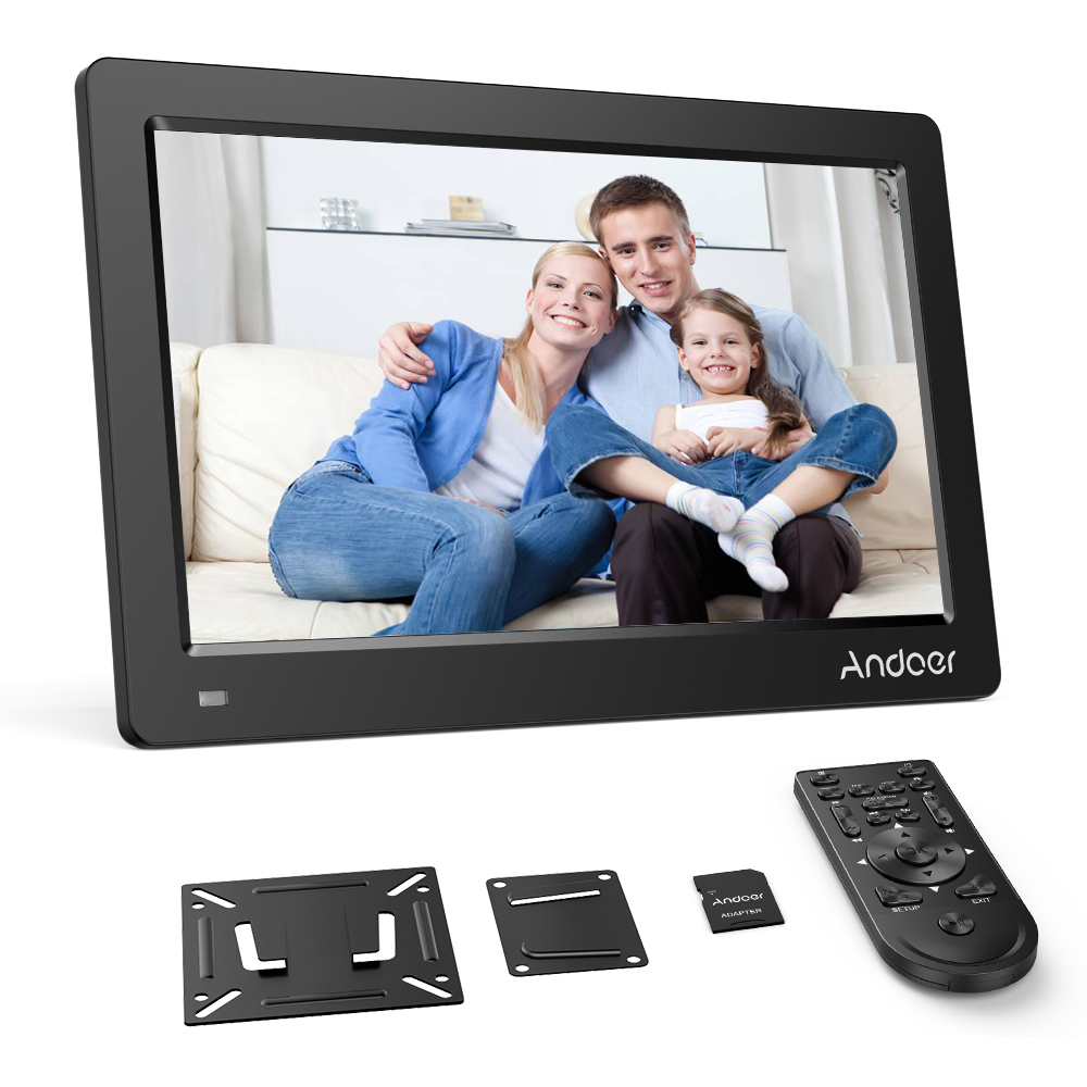 2018 Best Andoer 13 3 In FHD Digital Photo Picture Frame IPS Screen with Mounting Bracket