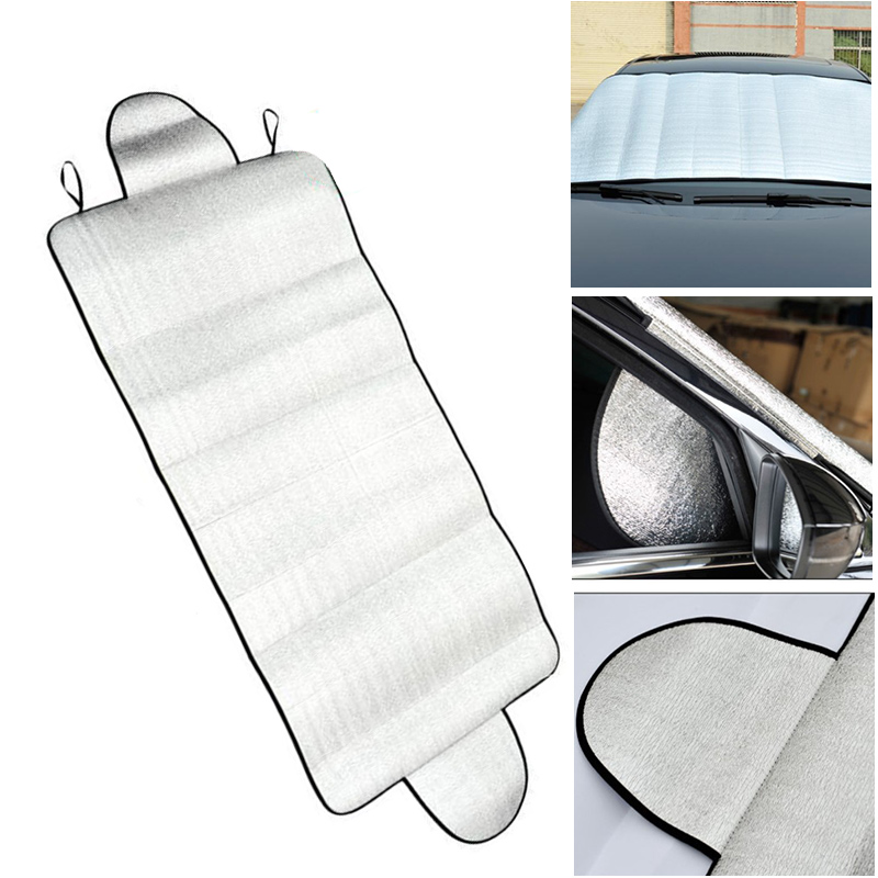 150 X 70cm Car Sunshade Front Windshield Snow Frost Sunscreen Insulation Front And Rear Sun Anti Snow Block Dual Purpose|Side Window Sunshades| |  -
