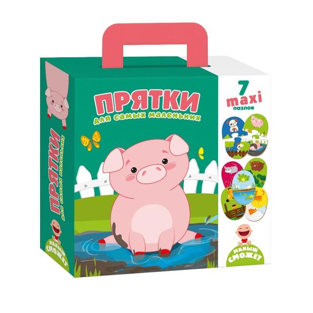 """Пазлы-двойняшки  для самых маленьких Vladi Toys """"Прятки"""""""