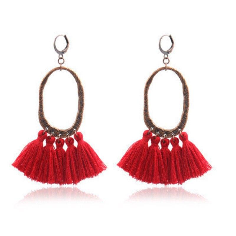 11 colors Long Bohemia Women Dangle Drop Earrings Summer Resin Tassel Earrings for Women Fashion Jewelry Pendientes Oorbellen in Drop Earrings from Jewelry Accessories