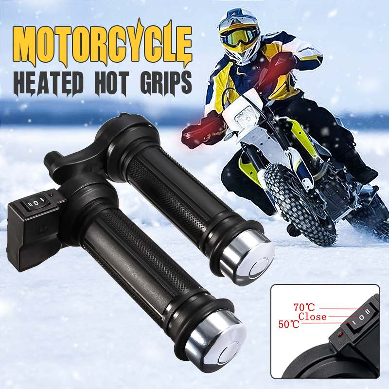 1Pair Universal Motorcycle Heated Handle Bar Warms Grip For Motorcycle With 22mm 7/8