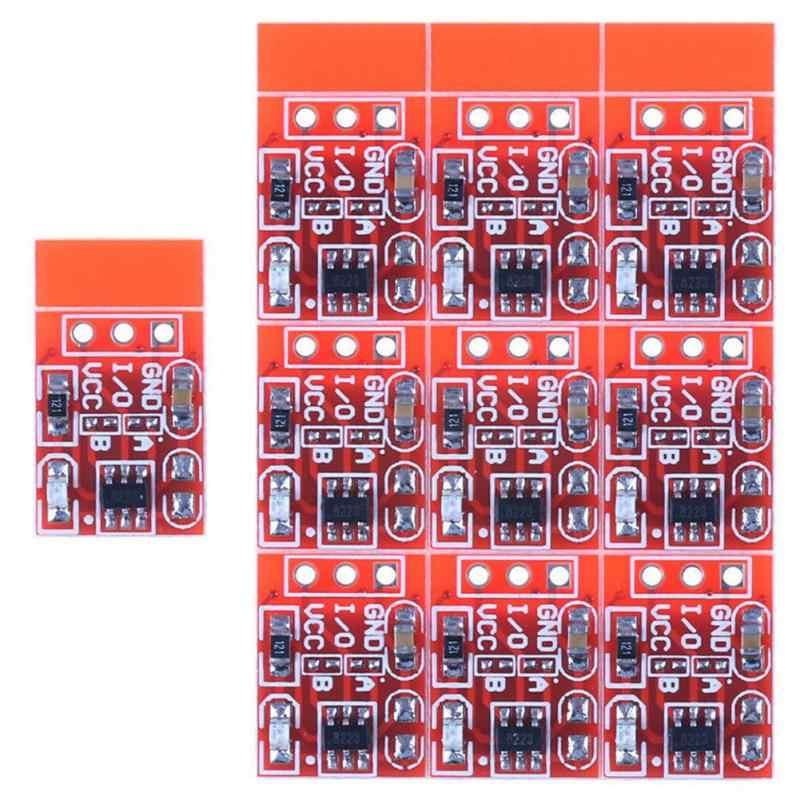 10 шт. TTP223 модуль сенсорной кнопки Конденсатор Тип одноканальный самоблокирующийся/без блокировки емкостный сенсорный переключатель