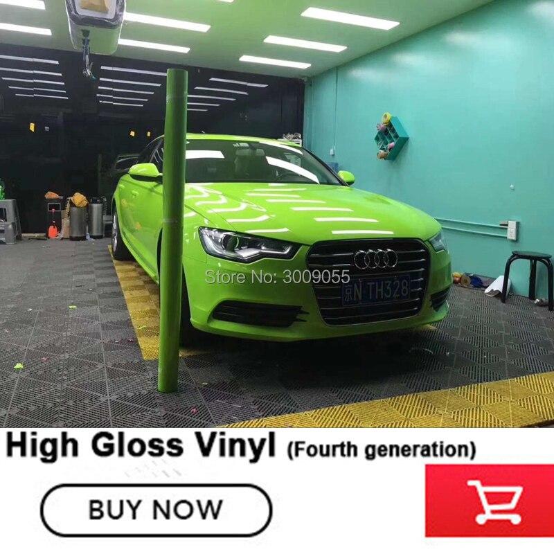 Vinyle vert Auto voiture style voiture autocollant vinyle Wrap Film Air libération autocollant plus haute matière première garantie satisfaction