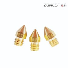 3D Printer Copper Nozzle Free Shipping 2PCS/Lot Improve Stringing Issue for 1.75/3 mm Filament M6 Threaded Option 0.2/0.3/0.4mm