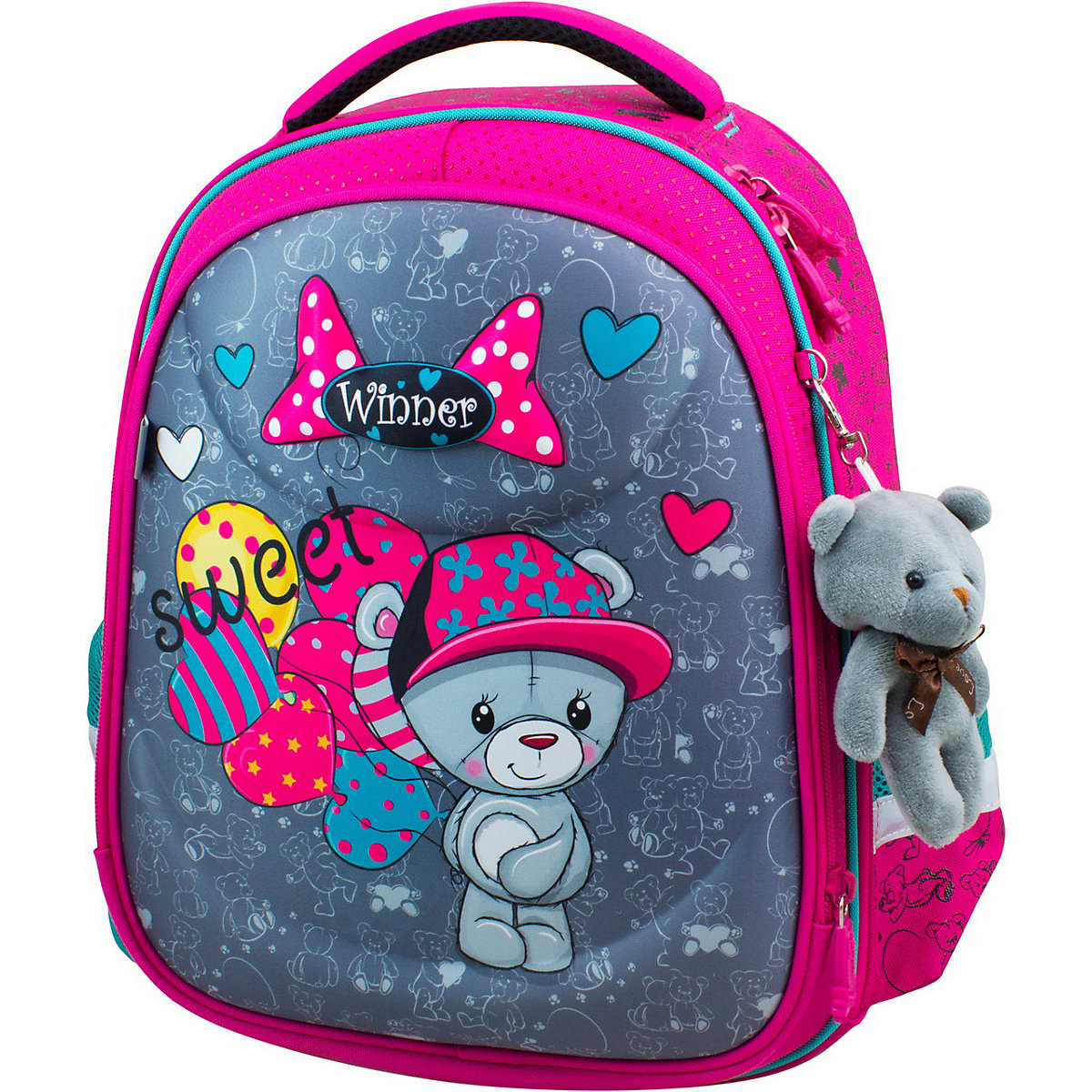 School Bags WINNER 11393744 Schoolbag Backpack For Boy And Girl Toy Key Chain Animals Reflective Element MTpromo