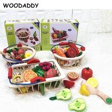 Деревянные детские игрушки, клубника, имитация фруктов, овощей, набор деревянных игрушек для детей, детские кухонные игрушки, развивающий подарок