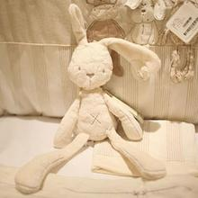 лучшая цена Fashionable Cute Rabbit Doll Baby Soft Plush Toys For Children Bunny Sleeping Stuffed &Plush Animal Baby Toys Souvenirs