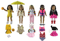 5 PCS Different Colors and Styles Doll Clothes+Other Accessories(Not including shoes) for 18'' American Girl Bitty Baby Doll S22