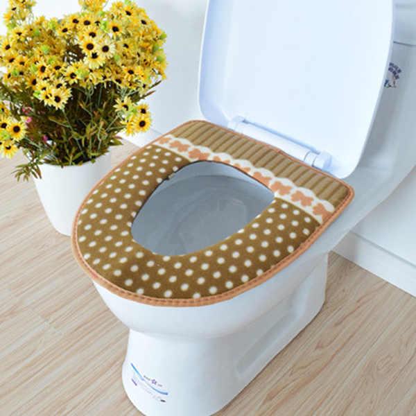 Новый горячий зимний подогреватель сиденья для унитаза флис толстый мягкий удобный детский детские горшки чехол Аксессуары для ванной комнаты