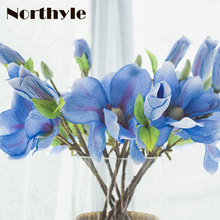 FS122668 Artificial Magnolia Flowers Branch Fake Flower For Home Decoration Diy Wedding Silk Flower Decoration цена и фото