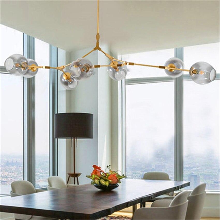 Здесь можно купить  Modern LOFT Chandelier Lighting Pendant Lamps Lights Molecular Magic Bean Branch Italian Hanging Lamps Dining Room Kitchen Avize  Свет и освещение