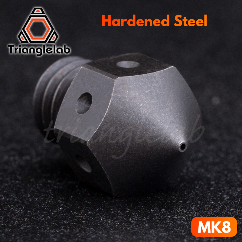 trianglelab  high temperature Hardened Steel MK8 Nozzles  for 3D printer PEI PEEK or Carbon fiber for E3D HOTEND Extrudertrianglelab  high temperature Hardened Steel MK8 Nozzles  for 3D printer PEI PEEK or Carbon fiber for E3D HOTEND Extruder