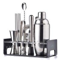 Greenhill Premium Barware Set, 15 Pieces including Shaker, Jigger, Ice Tong, Strainer, Pourer, Muddler, Straw, Spoon & Holder