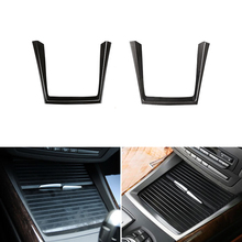 цена на Car Styling Interior Center Console Water Cup Holder Frame Cover Trim For BMW X5 E70 2008 2009 2010 2011 2012 2013