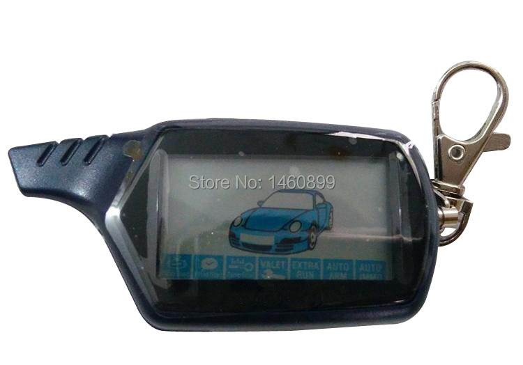 Keychain B9 LCD Remote Control Key Fob For Two Way Anti-Theft Car Alarm System Starline B9 Twage Alarm Auto