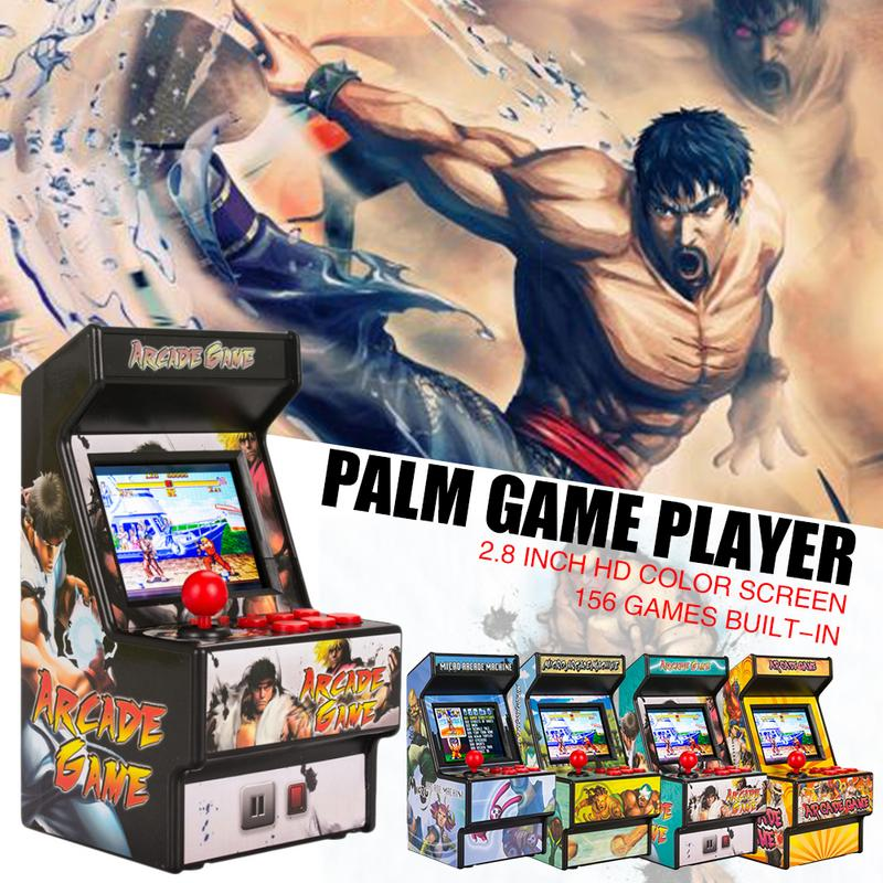 5 Color Mini Arcade Handheld Game Console Classic Retro Game Console 16 Bit Console New Street Fighter Home Arcade TV Game Box