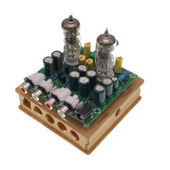 цена на Newest 6J1 tube preamp amplifier board Pre-amp Headphone amp 6J1 valve preamp bile buffer diy kits(6J1 tube preamp amplifier b