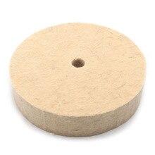 6 Polegada Disco Polidor de Feltro de Lã Polimento Polimento Rebolo 20MM Espessura de Lã Rebolo