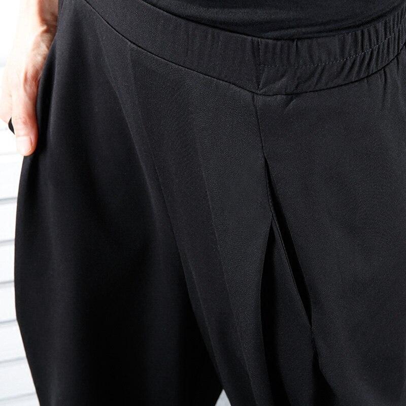 Nouveau Elastique Femme Noir Le710 Printemps Plissée eam Sarouel Solide Hiver Haute Taille Poches Long Black 2019 Couleur Lâche q1atpc7I
