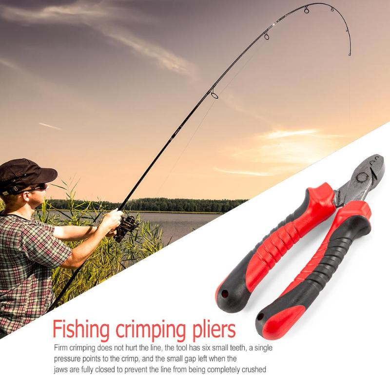 Fishing Plier Carp Clamp Tool Crimping High Carbon Steel Cable Wire Stripper Cutter Crimper Knife Fishing Accessories